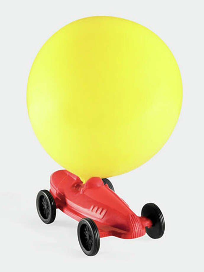 Balloon RacerWith the addition of any standard balloon, this little car zooms across playroom floors. $7. momastore.org. Photo: Courtesy Of Manufacturer / © MoMA 2011