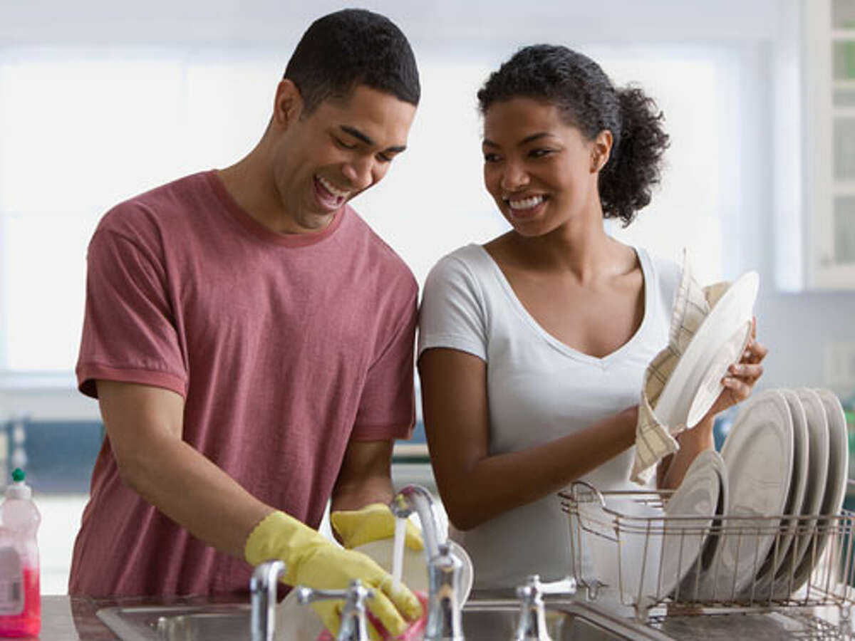 Monday: Swap chores. You know the way you despise the dinner dishes? Well, that's probably the way your husband feels about walking the dog, so make a trade and take on his busywork. Turns out, people in strong relationships spend time thinking about how to make life easier for each other.