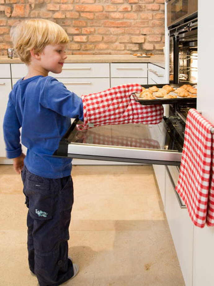 """When you open the oven, all the heat goes out""At age seven, there's nothing worse than waiting for the cookies to be ready. Thus comes the kitchen version of ""are we there yet,"" prompting moms everywhere to claim checking the chocolate delights will only make them take longer. Yes, when an oven is left open for one minute, about one-quarter of the heat escapes, but it returns in less than that time because warmth radiates from the walls of the oven. No matter what you say or do, it'll be ten to 12 minutes until sweets-time. Photo: Getty Images / henglein & steets"
