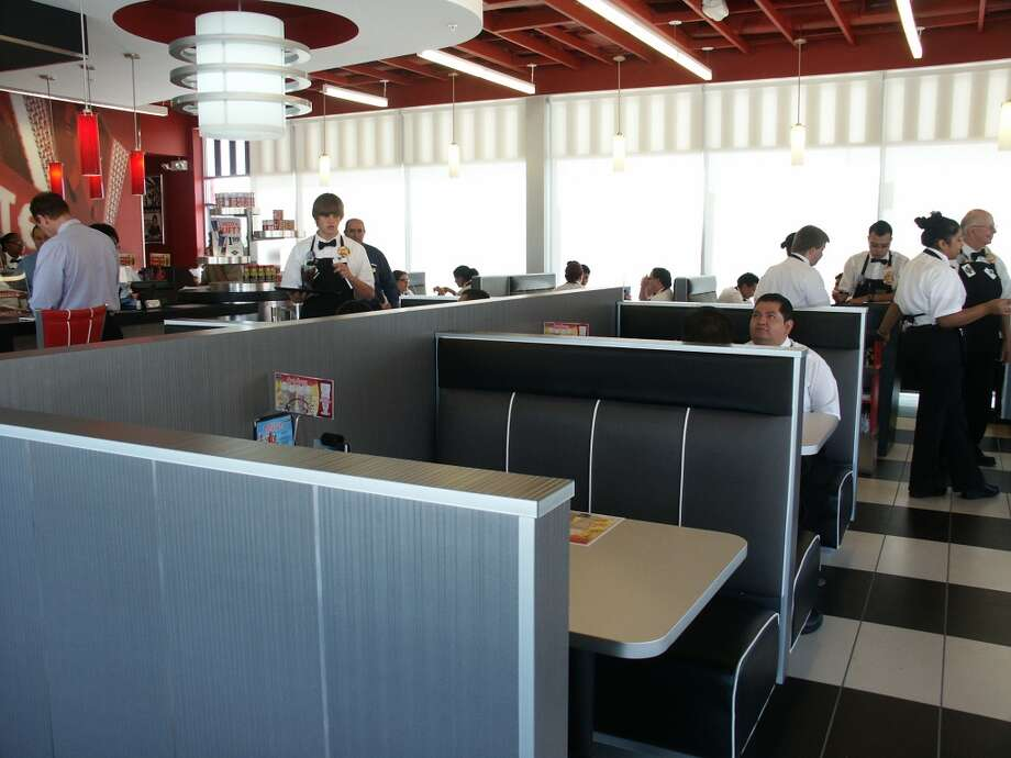 Inside the Webster Steak 'n Shake.