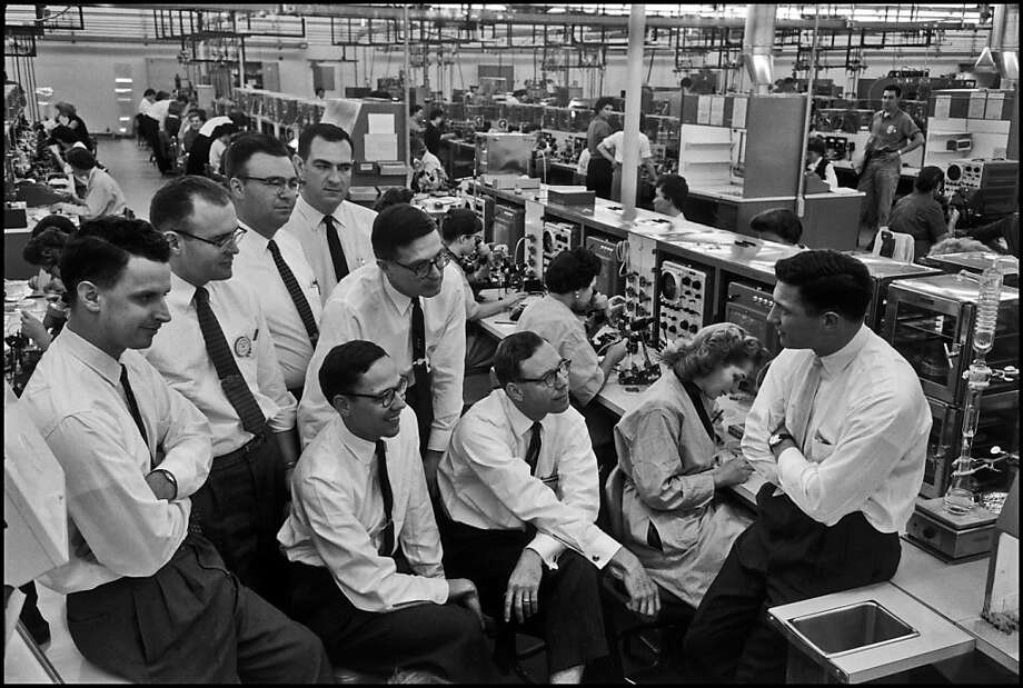 Eight key people behind the formation of Fairchild Semiconductor in 1960. Photo: Wayne Miller, Magnum Photos
