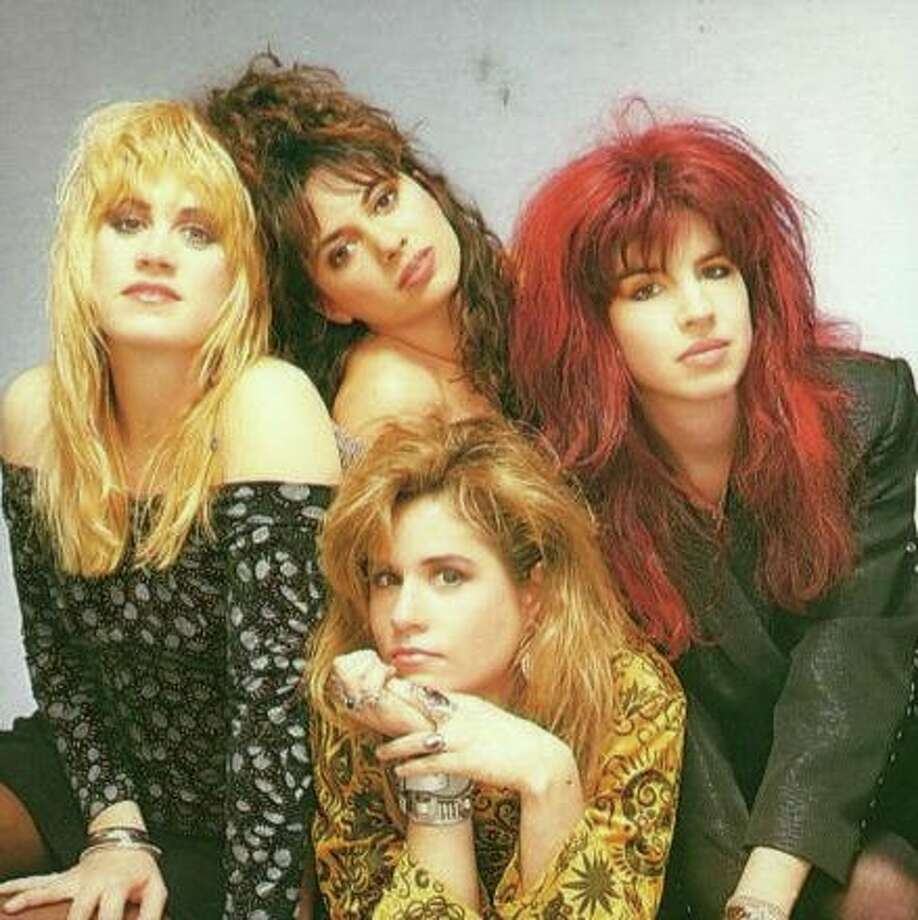The Bangles — from far left, Debbi Peterson, Susanna Hoffs, Michael Steele and Vicki Peterson — in the '80s.