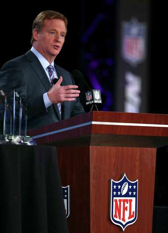 NFL commissioner Roger Goodell speaks at a news conference in New Orleans, Feb. 1, 2013. The 49ers and the Baltimore Ravens will face off in Super Bowl XLVII in New Orleans on Feb. 3. (Jed Jacobsohn/The New York Times) Photo: JED JACOBSOHN, New York Times / NYTNS