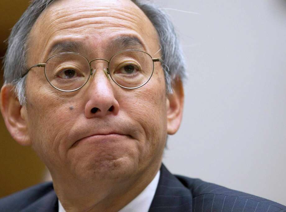 FILE - In this Nov. 17, 2011 file photo, Energy Secretary Steven Chu testifies on Capitol Hill in Washington. On Friday, the White House announced that Chu would be resigning his post.  (AP Photo/Evan Vucci, File) Photo: Evan Vucci, STF / AP