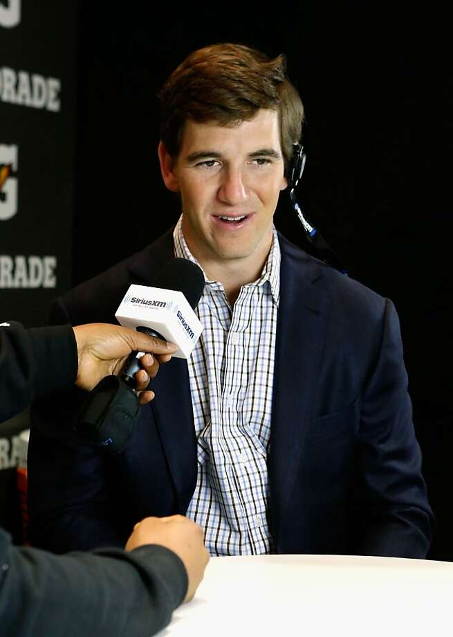 NEW ORLEANS, LA - FEBRUARY 01:  NFL Player Eli Manning attends SiriusXM's Live Broadcast from Radio Row during Bowl XLVII week on February 1, 2013 in New Orleans, Louisiana.  (Photo by Cindy Ord/Getty Images for Sirius) Photo: Cindy Ord, Getty Images For Sirius