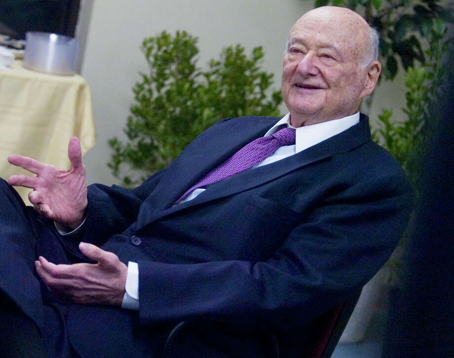 "In October 2008. Former New York City Mayor Ed Koch spoke to a group gathered at the JCC during a reception prior to his presentation about his book ""The Koch Papers: My Fight Against Anti-Semitism.""  On Feb. 1, 2013, Koch died at the age of 88. Photo: KATHLEEN O'ROURKE, ST / 00008271A"