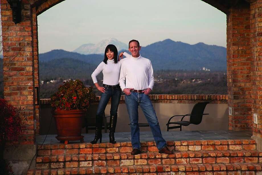 Cosmetic surgeon Craig Kraffert and his wife, MiSook, top, met at a dermatology convention. Photo: Amarte