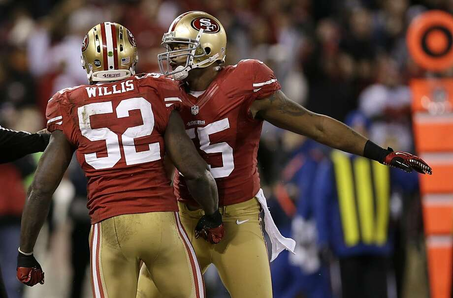 Rickey Jackson says 49ers linebacker Ahmad Brooks (right) could someday join him in the Pro Football Hall of Fame. Photo: Marcio Jose Sanchez, Associated Press