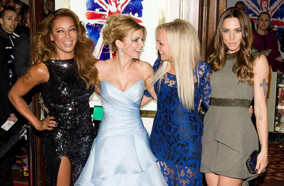 Melanie Brown, Geri Halliwell, Emma Bunton and Melanie Chisholm reunite for the premiere of the Spice Girls musical 'Viva Forever' in 2012. Photo: AFP, AFP/Getty Images / 2012 AFP