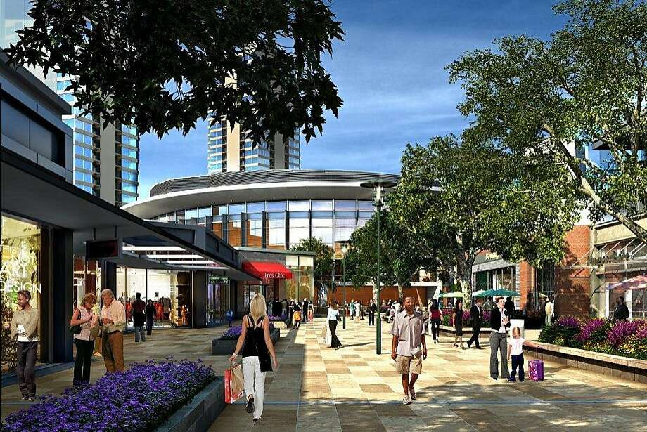 The development proposed for the Candlestick site is billed as resembling the downtown Walnut Creek shopping district. Photo: -, Lennar Urban