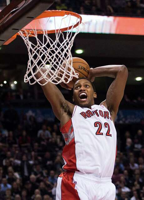 Raptors forward Rudy Gay had 20 points in his debut with Toronto after being traded by Memphis. Photo: Nathan Denette, Associated Press / The Canadian Press