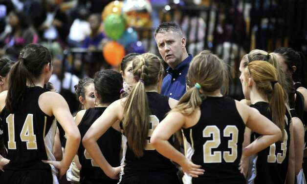 Vidor girls basketball coach Ricky Jacks calls a time out irritated with the direction the game is headed during the Central High School girls basketball game against Vidor High School on February 1, 2013, at Central High School. Central won over Vidor 70 -46. Photo taken: Randy Edwards/The Enterprise Photo: Randy Edwards
