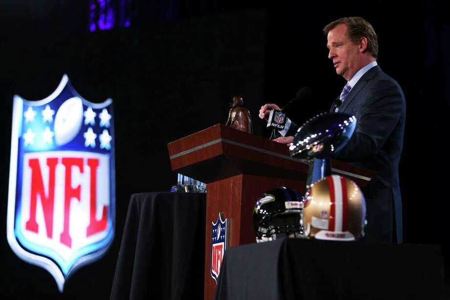 NFL commissioner Roger Goodell addressed a wide range of issues - including player safety, the Saints' punishment and international games - at his annual pre-Super Bowl news conference. Photo: Christian Petersen, Staff / 2013 Getty Images