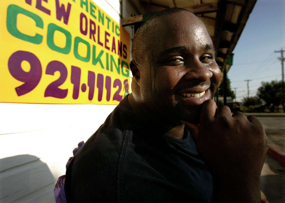 Bernard McGraw of New Orleans has opened his Bernard's Creole Kitchen on Palo Alto Road in San Antonio after Hurricane Katrina. KEVIN GEIL/STAFF Photo: KEVIN GEIL, SAN ANTONIO EXPRESS-NEWS / SAN ANTONIO EXPRESS-NEWS