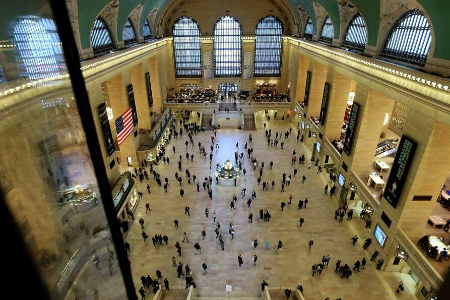 NEW YORK, NY - JANUARY 31:  People walk through Grand Central Terminal on the day before the famed M