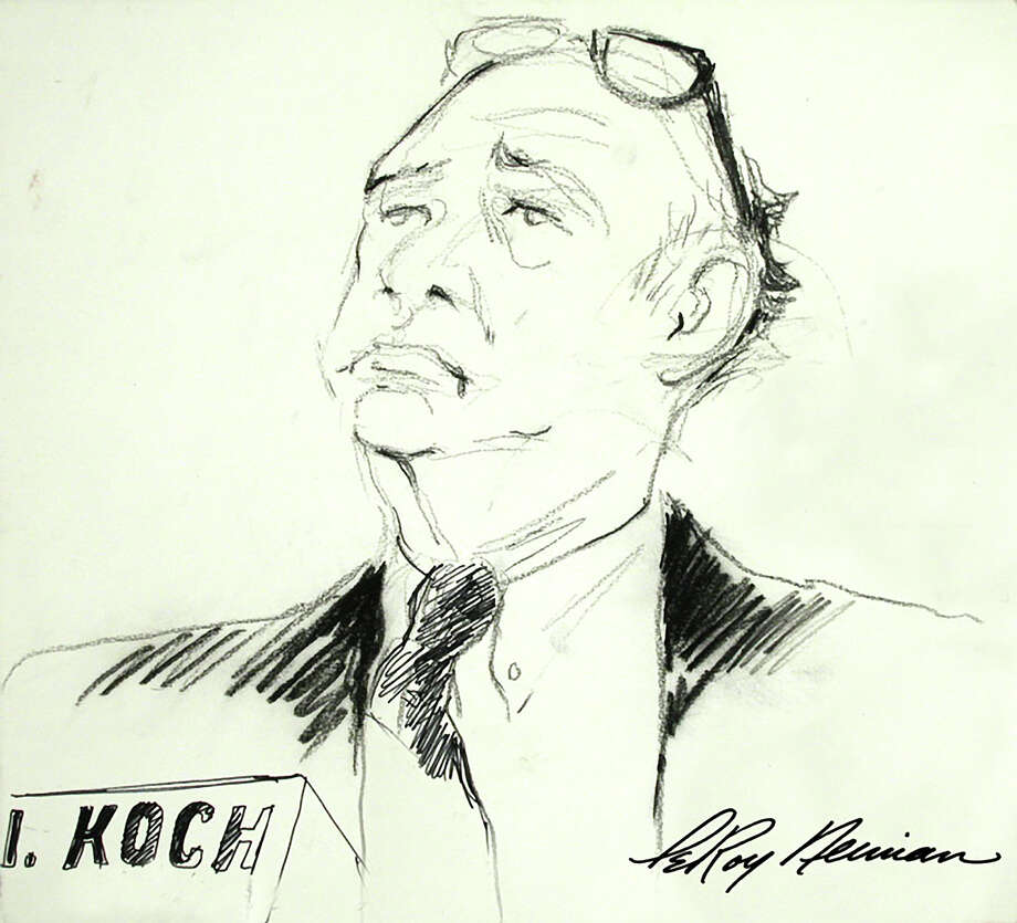 This undated image provided by the LeRoy Neiman Foundation shows a drawing from Neiman's personal collection of former New York Mayor Ed Koch. Koch died of congestive heart failure Friday, Feb. 1, 2013, at age 88. Photo: AP / LeRoy Neiman Foundation