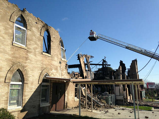 Overnight fire hits East Side church. Lisa Krantz/ Express-News