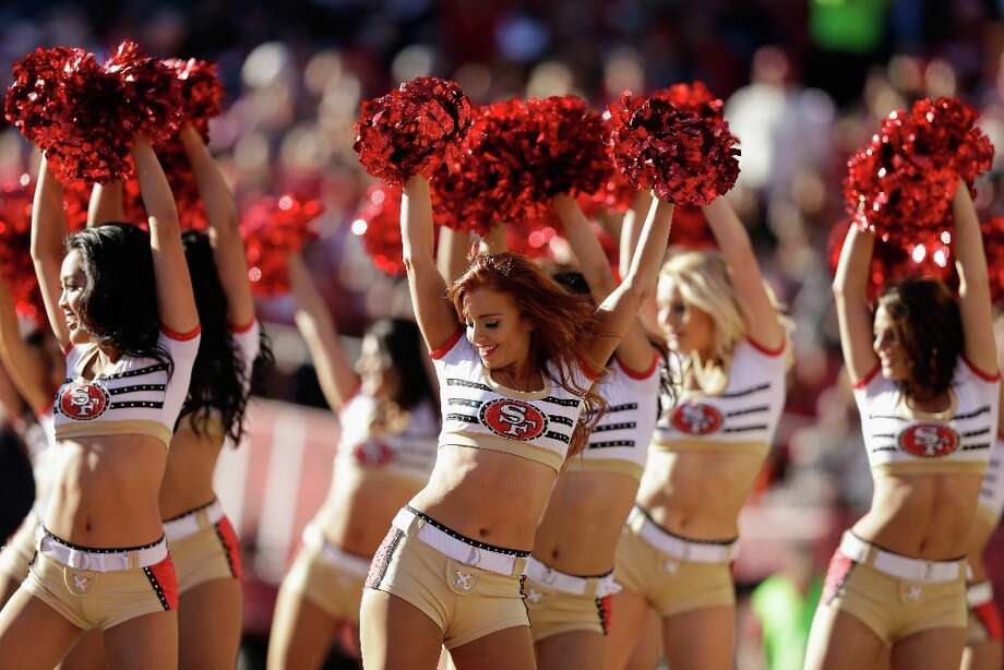 The Gold Rush, the San Francisco 49ers cheerleaders, perform during their game against the Arizona Cardinals at Candlestick Park on December 30, 2012 in San Francisco, California. Photo: Ezra Shaw, Getty Images / 2012 Getty Images