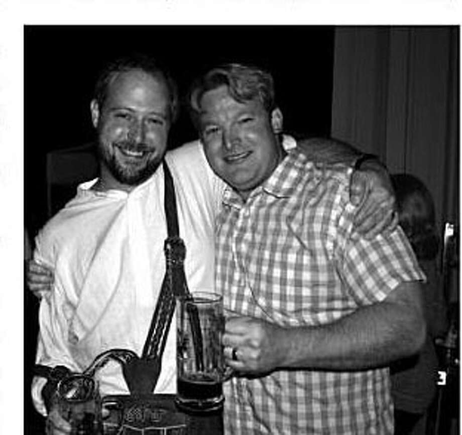"Ash Rowell (right, with Dave Fougeron) was shot to death on Friday night in Houston. (Photo from the book ""Houston Beer"" by Ronnie Crocker.)"