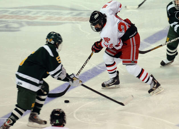Fairfield Prep's Dean Lockery, during boys hockey action against Hamden at the Webster Bank Arena in Bridgeport, Conn. on Saturday February 2, 2013. Photo: Christian Abraham / Connecticut Post