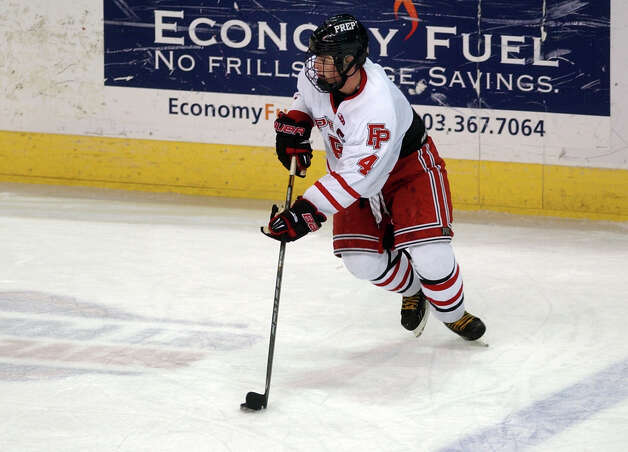 Fairfield Prep's Sean Henry, during boys hockey action against Hamden at the Webster Bank Arena in Bridgeport, Conn. on Saturday February 2, 2013. Photo: Christian Abraham / Connecticut Post
