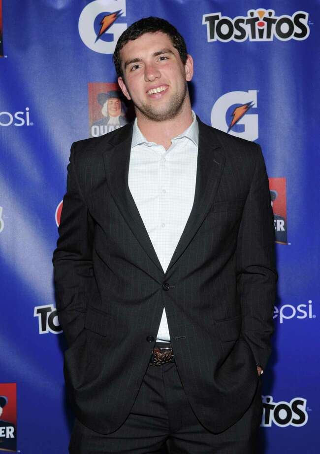 IMAGE DISTRIBUTED FOR PepisCo - Andrew Luck of the Indianapolis Colts and Pepsi MAX Rookie of the Year Nominee attends the PepsiCo Pre-Super Bowl Party, at Masquerade Night Club, on Friday, Feb. 1, 2013 in New Orleans. (Photo by Evan Agostini/Invision for PepsiCo/AP Images) Photo: Evan Agostini, Associated Press / Invision