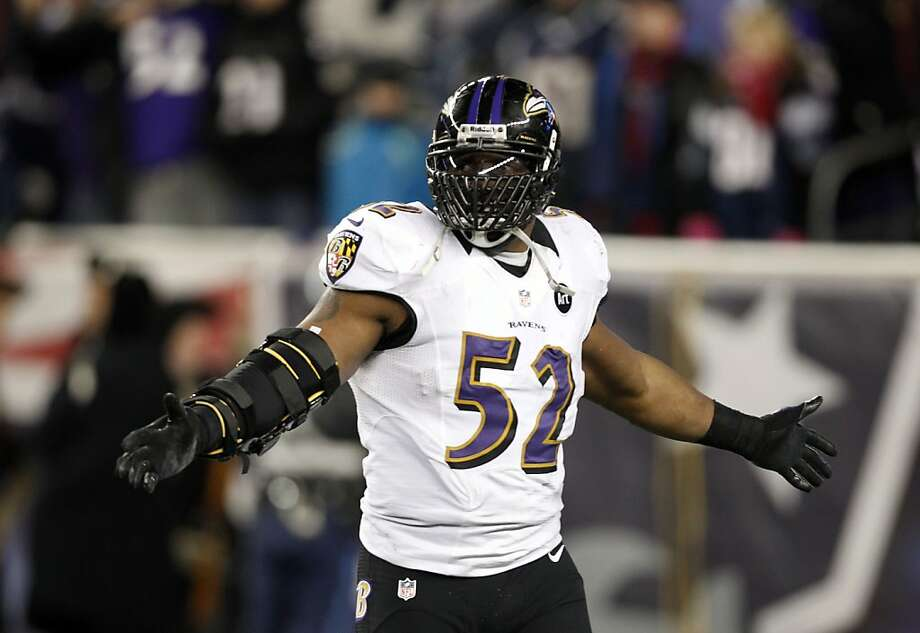 Ravens linebacker Ray Lewis has been dominant since his return from an elbow injury, with 44 tackles in the playoffs. Photo: Stephan Savoia, Associated Press