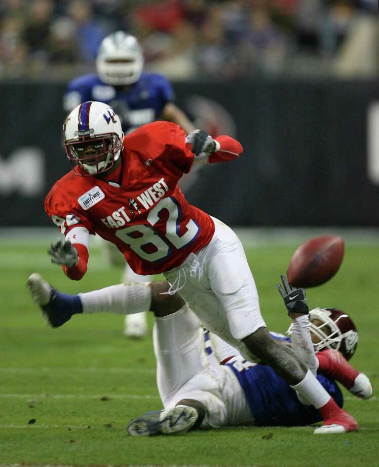 Jan. 20, 2007It was Jacoby Jones' performance in the East-West Shrine game at Reliant Stadium that really sparked the Texans' interest in him. Photo: KAREN WARREN, Houston Chronicle / Houston Chronicle