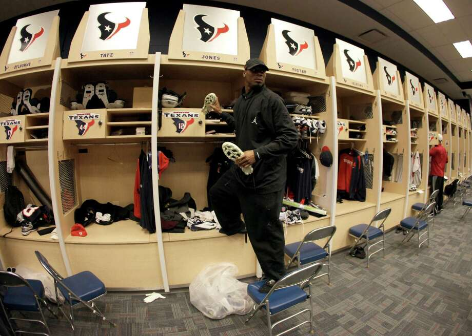 Jan. 16, 2012Jacoby Jones cleans out his locker at the end of the 2011 season. Photo: David J. Phillip, Associated Press / Copyright: AP
