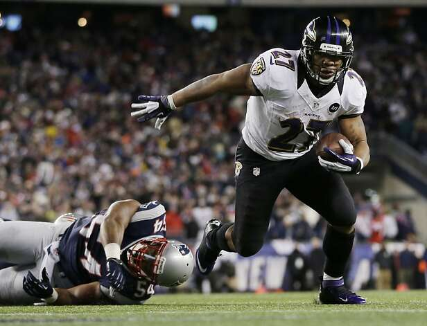 Ray Rice gained 1,143 yards rushing this year for John Harbaugh's AFC champion Baltimore Ravens. Photo: Matt Slocum, Associated Press