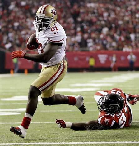 Frank Gore gained 1,214 for the 49ers. It's the first time in six years both Super Bowl teams have had a 1,000-yard rusher. Photo: Mark Humphrey, Associated Press