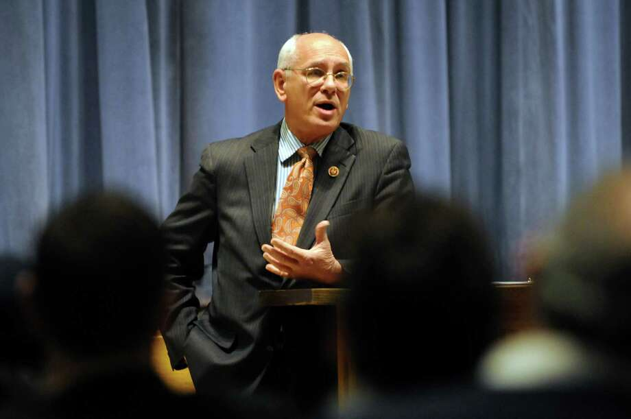 Congressman Paul Tonko speaks before taking questions from constituents during a town hall meeting on Saturday, Feb. 2, 2013, at Shenendehowa High School West in Clifton Park, N.Y. (Cindy Schultz / Times Union) Photo: Cindy Schultz / 00021008A