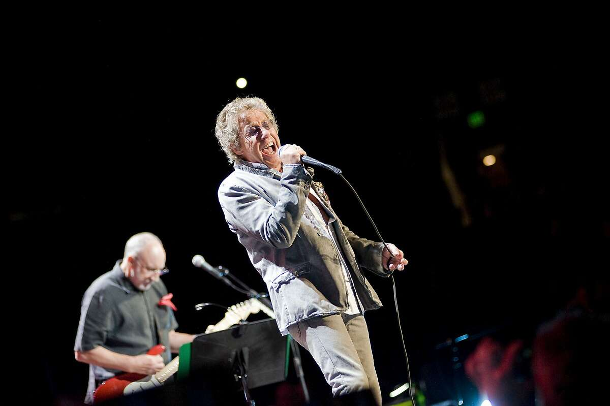 Lead singer Rodger Daltrey and guitarist Pete Townshend preform with The Who during their Quadrophenia Tour at Oracle Arena in Oakland, CA Friday February 1st, 2013