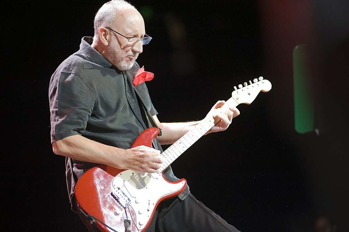 Lead guitarist Pete Townshend preforms with The Who at Oracle Arena in Oakland, CA Friday February 1st, 2013.