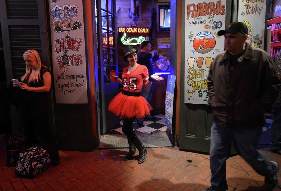 Super Bowl fans party in the French Quarter. Photo: TIMOTHY A. CLARY, AFP/Getty Images / AFP