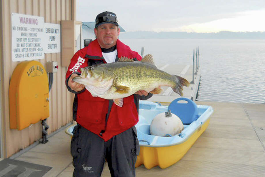 Lake-record 15.2-pound largemouth bass at Camanche Lake – lucky angler was Lonnie Owens Sr., of Galt, who released the fish unharmed