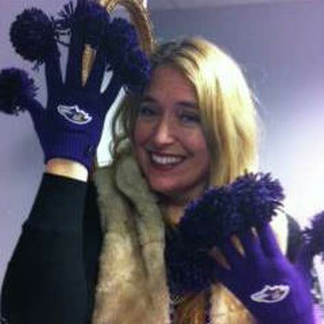 Bettina Dill, a Baltimore Ravens season ticket holder from Guilderland. (Bettina Dill)