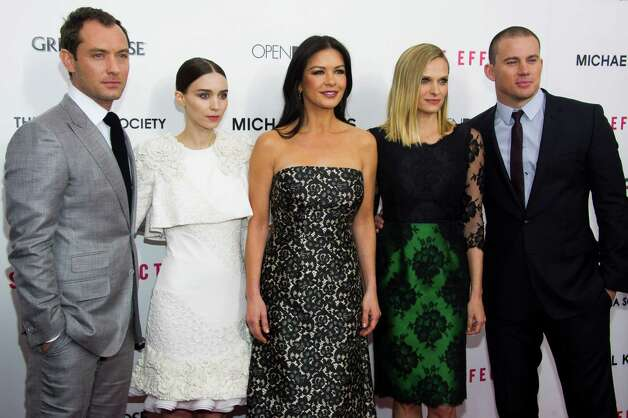 "Jude Law, from left, Rooney Mara, Catherine Zeta-Jones, Vinessa Shaw and Channing Tatum attend the premiere of ""Side Effects"" hosted by the Cinema Society and Open Road Films on Thursday, Jan. 31, 2013 in New York. (Photo by Charles Sykes/Invision/AP) Photo: Charles Sykes"