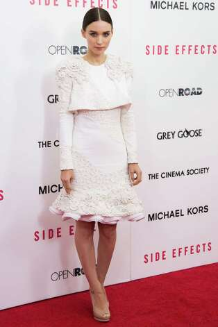 "Rooney Mara attends the premiere of ""Side Effects"" hosted by the Cinema Society and Open Road Films on Thursday, Jan. 31, 2013 in New York. (Photo by Charles Sykes/Invision/AP) Photo: Charles Sykes"