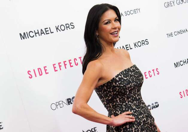 "Catherine Zeta-Jones attends the premiere of ""Side Effects"" hosted by the Cinema Society and Open Road Films on Thursday, Jan. 31, 2013 in New York. (Photo by Charles Sykes/Invision/AP) Photo: Charles Sykes"