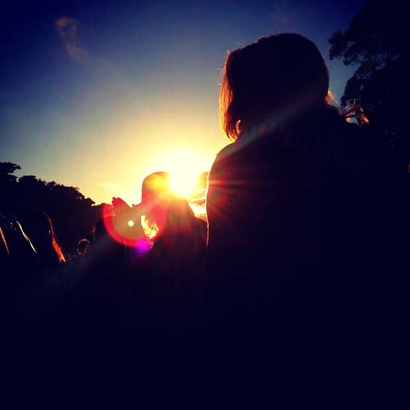 Sunset at Hardly Strictly Bluegrass.-James Temple @jctemple