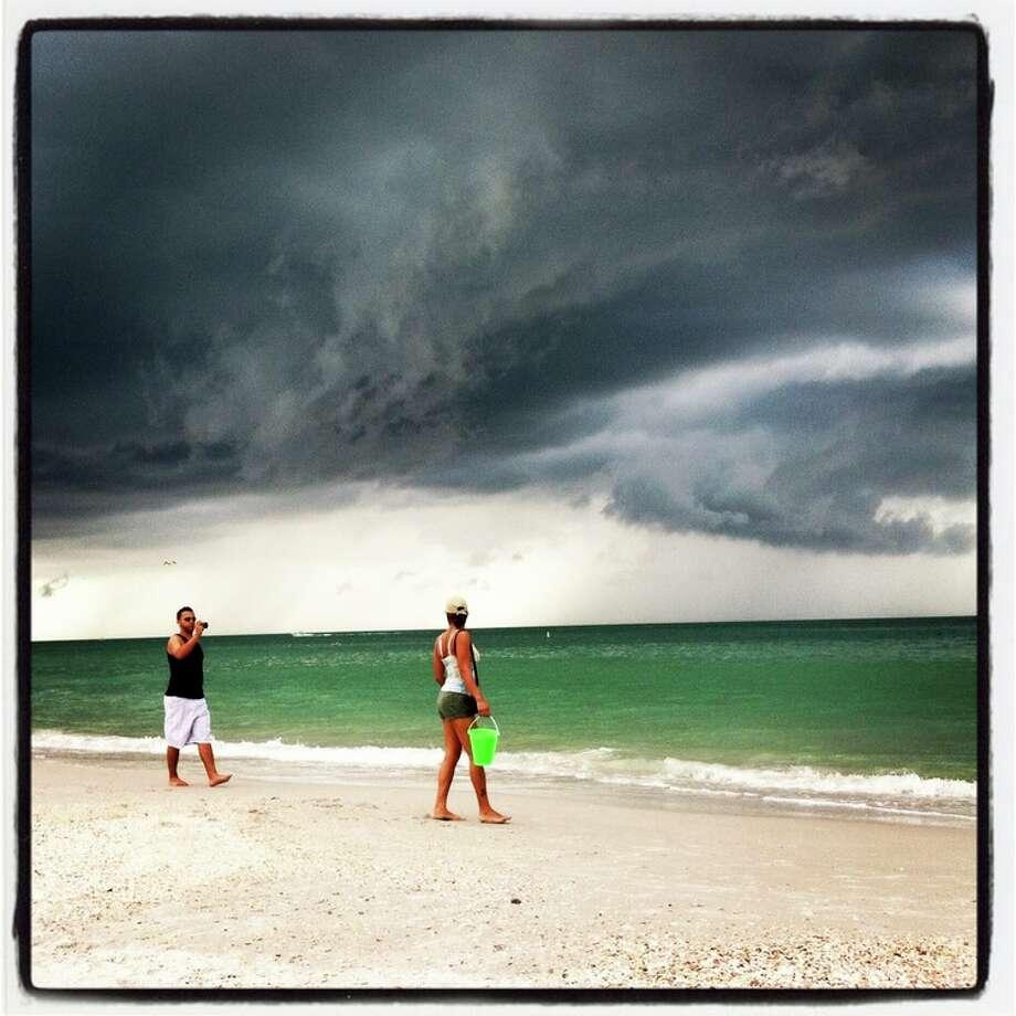 Beach storm.- Luanne Dietz @luannedietz