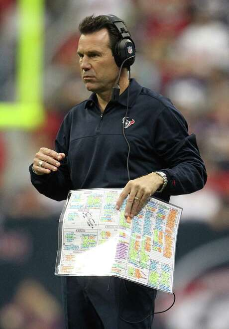 Texans coach Gary Kubiak received the seal of approval from several former players and coaches in New Orleans to cover the Super Bowl. Photo: Karen Warren, Staff / © 2012 Houston Chronicle