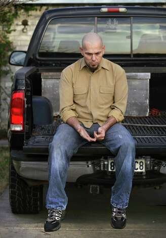 Bob Walls sits on his pickup truck, Tuesday, Jan. 29, 2013, thinking about his friend Walter Wesley Ellebracht III, who was killed in an automobile accident Jan. 20 on Highway 290 just out side Fredericksburg. Ellebracht was just a young boy when his father and grandfather were arrested and their so-called Texas Slave Ranch was raided in 1984. Photo: Bob Owen, San Antonio Express-News / © 2012 San Antonio Express-News