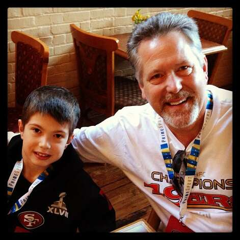 49ers fan Dean McGill and his son, Ryan, will attend the game. (Jeff Elder)