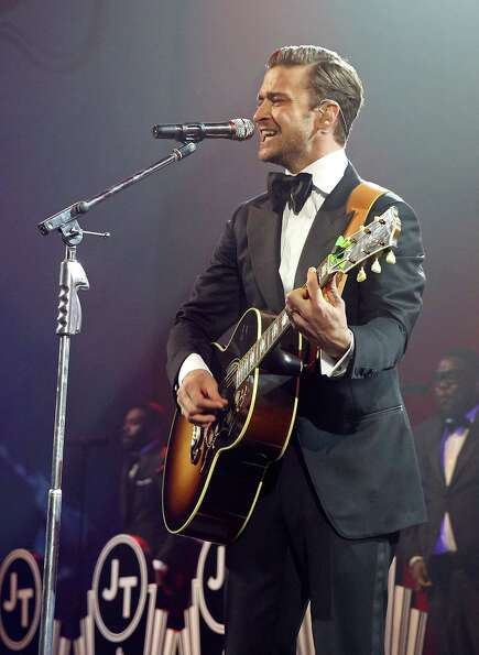 Justin Timberlake performs at a DirectTV event hosted by Mark Cuban.