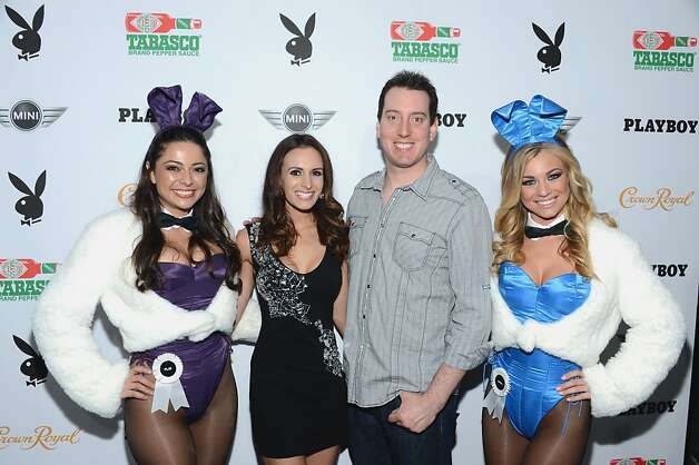 NEW ORLEANS, LA - FEBRUARY 01:  NASCAR racer Kyle Busch (2nd R) and Samantha Busch (2nd L) attend The Playboy Party Presented by Crown Royal on February 1, 2013 in New Orleans, Louisiana.  (Photo by Andrew H. Walker/Getty Images for Playboy) Photo: Andrew H. Walker, Getty Images For Playboy