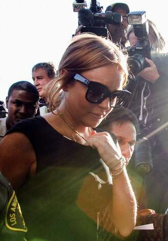 Lohan arrives. Photo: AP