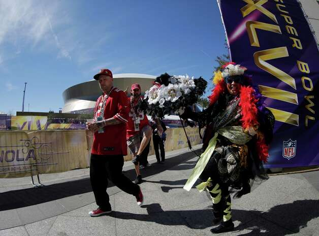 "Jennifer Jones, who calls herself the ""Dancing Queen of NOLA"", performs outside of the Superdome. Photo: Charlie Riedel, Associated Press / AP"
