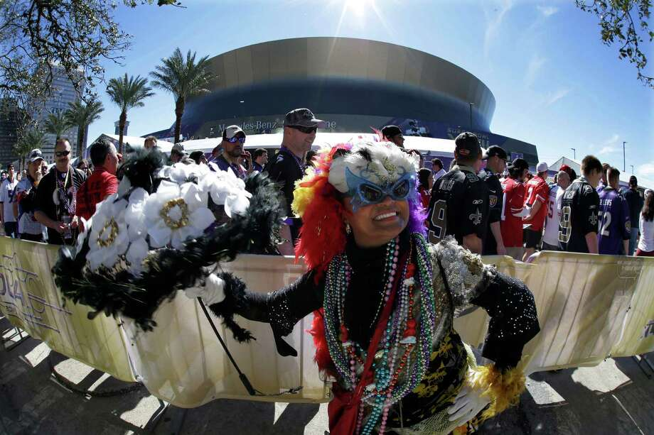 Jennifer Jones dances outside the Superdome. Photo: Gene Puskar, Associated Press / AP
